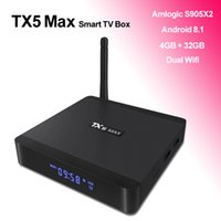 TX5 Max Android 8.1 TV Box con antenna WiFi Amlogic S905X2 Quad Core Bluetooth Smart TVbox 4G LPDDR4 32 GB Streaming Media Player 4K Movie