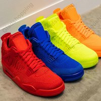 New 4 Fly University Red Hyper Royal Volt Total Orange Uomo Scarpe da basket Sneaker 4s Basket Ball Designer Scarpe da ginnastica con scatola