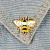 꿀벌의 종류 여성 크리스마스 Demin 셔츠 장식 브로치 핀 금속 가와이이 배지 패션 쥬얼리 귀여운 작은 곤충 재미 에나멜 브로치 핀