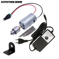 Mini Elektrische Handbohrer Set DC 12-24V Motor JT0 Futter Netzteil Adapter mit Terminal DIY Bohrlochsägewerkzeuge T200324