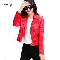 Kaufen Sie im Großhandel Rote Mode Lange Leder Mantel 2019