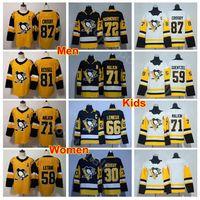 남성 청소년 여성 Sidney Crosby Jersey 87 피츠버그 펭귄 키즈 레이디 하키 경기장 71 Evgeni Malkin 81 Phil Kessel 72 Patric Hornqvist