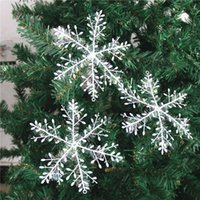 3 PC / Satz weißen Schneeflocke Anhänger für Weihnachtsbaum Ornament-Fenster-Aufkleber Weihnachtsschmuck-Partei liefert freies Verschiffen