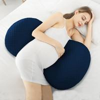 임산부 베개 U 타입 임신 베개 허리 수면 베개 배 지원 사이드 침목을 보호