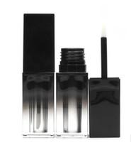 Пустые 5 мл тубы для блеска для губ, Черная крышка, Квадратный контейнер для губной помады, Пустая бутылка для бальзама для губ DIY Многоразовая бутылка