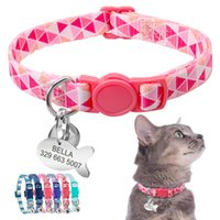 wholesale Cat Collar Personalized Quick Release Safety Kitte...