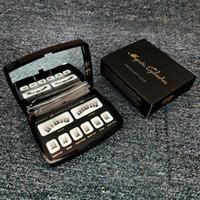8 개 6D 자기 속눈썹 밍크 채찍 전체 스트립 속눈썹 속눈썹 핀셋 거울 더블 자석 가짜 속눈썹 블랙 화이트 상자