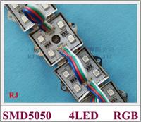 5050 RGB LED modülü su geçirmez LED piksel modül ışık SMD5050 DC12V 4 led toptan ücretsiz gönderim