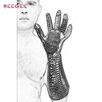 BEEGER Pleasure Fister Textured Fisting Glove,Magic Palm Hand Masturbation Sex Glove.Massage Glove Couple Adult Games Flirting Y200422