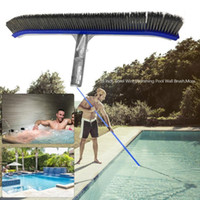 18in Swimming Pool Wall Brush Cleaning Tools Aluminum Handle...