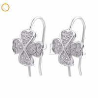 Clover Earring Findings Bead Cap with Peg 925 Sterling Silve...