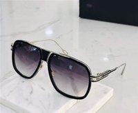 óculos de sol dos homens de titânio puro originais lentes de cristal óculos de sol Eyewear dos espetáculos DA2077 moda retro moda designer de metal do vintage