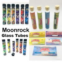 Tubi di vetro di Moonrock Dankwoods Pre Roll Packaging Container Bottle Vuoto Autoadesivi di carta Rolling Label Etichette Fumatori FORMATO PACCHETTO