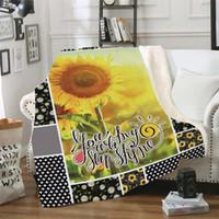 150 centímetros * 200 Sunflower série Blanket Praça flores do arco-íris padrão adultos Nap Thrrow colorido dupla engrossado Coral velo Tapete A07