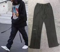 Fear of god FOG stagione 6 6TH loop nylon patchwork pantaloni casual pantaloni sportivi Pantaloni da uomo di alta qualità hiphop jogger pista
