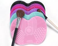 Silicone Maquiagem Escova De Limpeza Mat Esteira Ferramentas de Lavar Cosméticos Maquiagem Sobrancelha Escovas De Limpeza Almofada Scrubber Board Maquiagem Limpo Ferramenta