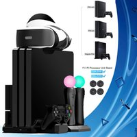 PS4 Pro Delgado / PS Move VR soporte vertical del refrigerador del cargador del regulador del ventilador Base de carga para Sony Playstation Move 4 pSVR