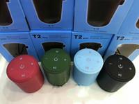 새로운 T2 미니 블루투스 스피커 휴대용 무선 스테레오 하이파이 박스 야외 목욕 방수 지원 SD TF 카드 FM 라디오 슈퍼베이스 스피커