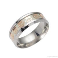 Довольно мужские кольца Светящиеся Креативные кольца Glow In The Dark Самец Красиво ювелирных изделий черепа Кольца для мужчин