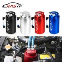 RASTP-Evrensel Silindir Yuvarlak Alüminyum Yağ Yakalama Can Tankı Rezervuar Yarış Motor Yakıt Tankları Siyah Kırmızı Mavi Gümüş RS-OCC019