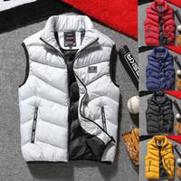 2018 Kış Sıcak Erkek Yelek Palto Kolsuz Ceket Yelek Yelek Artı Boyutu L-4XL