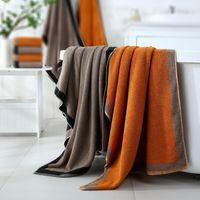 3PCS juego de toallas de algodón gris oscuro grande gruesa toalla de baño Cuarto de baño Ducha Toallas cara de la mano Hogar para adultos de los niños toalla de ducha