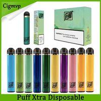 Puff Xtra Descartável Vape Pen E Cigarros 1500Puffs Pré-preenchido 5.0ml Kit Dispositivo Vaporizador Pods Puffins XTR Vapor