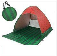 Strandzelt Pop Up Strandzelte Wassermelone Schnell Sonnenunterkunft Falten Gartenmöbel Outdoor Camping Zelt Tragbare Anti-UV-Familienzelt C827