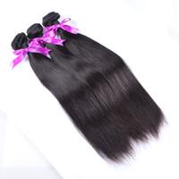 페루 버진 머리카락 스트레이트 10pcs 많은 인간의 머리카락 번들 100 % 처리되지 않은 버진 레미 인간의 머리카락 직조 여성 Wefts 여성을위한