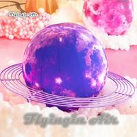 حزب مخصص الإضاءة نفخ بالون البنفسجي كوكب تفجير القمر الكرة للتسوق وحفل المرحلة الديكور