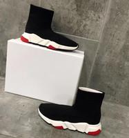 best loved 4144a 4456f 2018 Diseñador de la marca de lujo CasualShoes Speed Black Red Mr Porter  Triple