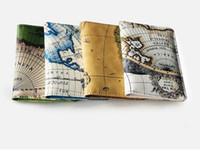 حقيبة التخزين DHL 50PCS كوريا نمط خريطة العالم الطباعة سفر حامل جواز السفر بطاقة الهوية الغلاف حقيبة جواز السفر كم واقية للمرأة