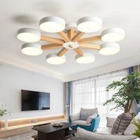 Nueva 220v llevó la lámpara de espacio para estar Dormitorio principal de la lámpara pendiente llevada moderna lámpara de la lámpara de techo iluminación de la lámpara