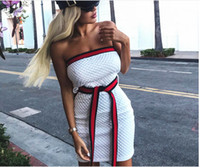 Casual Tight Dress Femmes Mode 2019 Sexy Stretch Slim Robes Ladies Summer Striped Tank Mini Dress