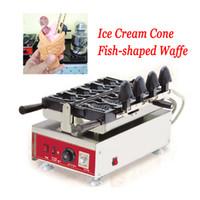 Большой открытый рот мороженое Taiyaki вафельная машина коммерческая Taiyaki рыба Shaped торт чайник из нержавеющей стали с 4 шт формы