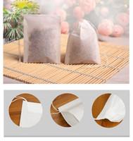 60 x 80mm Madeira Celulose Papel de filtro descartável coador de chá filtros de mangas Único cordão curar Seal sacos de chá Sem lixívia EEA382