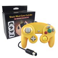 100٪ العلامة التجارية الجديدة السلكية الألعاب لعبة وحدة تحكم غمبد المقود ل NGC NINTENDO GC لعبة مكعب لالبلاتين