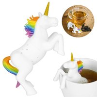 Silicone Creative Filter Loose Unicorn Shape Leaf Herbal Spi...