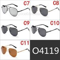 Elmot argento pilota occhiali da sole per il tempo libero occhiali da sole polarizzati rana occhiali da sole in lega multicolore per uomo e donna