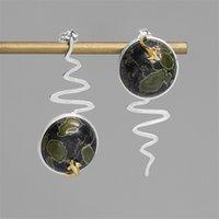 INATURE 925 Sterling Silver Jewelry Natural Jade da Sorte presentes dos peixes de brincos para mulheres CX200628