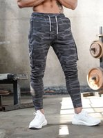 Fitness Sports Mens Cargo Pants Camouflage Fitness Trousers ...