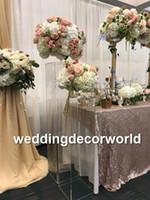 Düğün için dekorasyon zemin Standı Akrilik Şeffaf Çiçek Ayağı Sütun Centerpieces Standları düğün sahne backgroup dekorasyon decor49