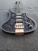 Четырехструнный пятиструнный электрический бас, матовый черный корпус, Прямые продажи на заводе DIY