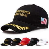 Make America Great Again Hat Donald Trump Republican Snapback Sports Hats MAGA Gorras Gorras de bordado ajustables con bandera de EE. UU.