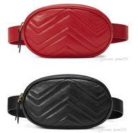 Großhandel neue Art und Weise PU-Leder-Handtaschen-Frauen-Beutel Fanny Packs Waist Taschen Handtaschen-Dame Gürtel Brustbeutel 4 Farben