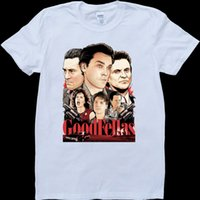 Goodfellas White, t-shirt con t-shirt da uomo in denim