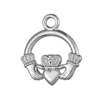 Silver Plated Beach Palm Tree And Waves & Claddagh Love Loyalty Friendship Charms Zinc Alloy Charms for DIY Necklaces Bracelets Making
