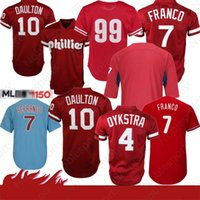 4 Lenny Philadelphia # Phillies Jersey 7 Maikel Franco 10 Darren Daulton 99 Mitch Williams 20 Mike Schmidt Baseball Jersey