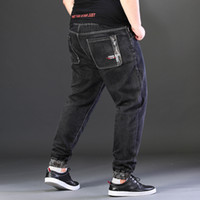Men Jeans Plus Size cintura alta