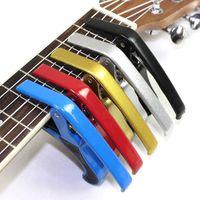Liga de alumínio Universal guitarra Capo folk metal Quick Change chave Grampo clássico da guitarra acústica Ukulele Acessórios Gatilho Capo